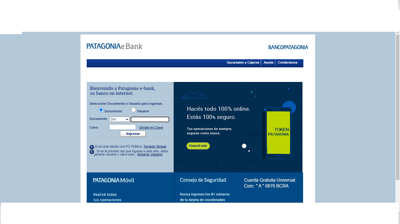 Como Hacer Home Banking Banco Patagonia